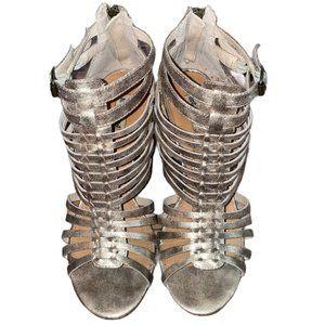 Not Rated Metallic Chunky Block Heels